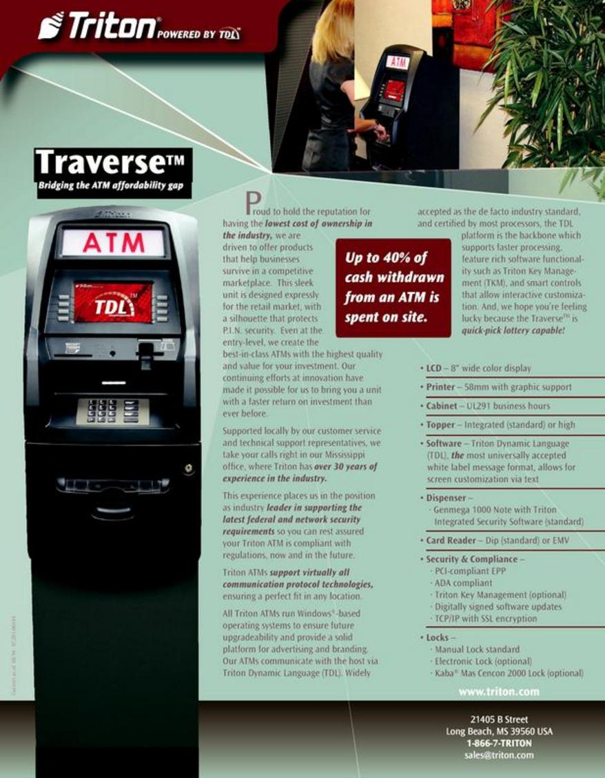 The triton traverse atm wholesale triton systems atm publicscrutiny Image collections